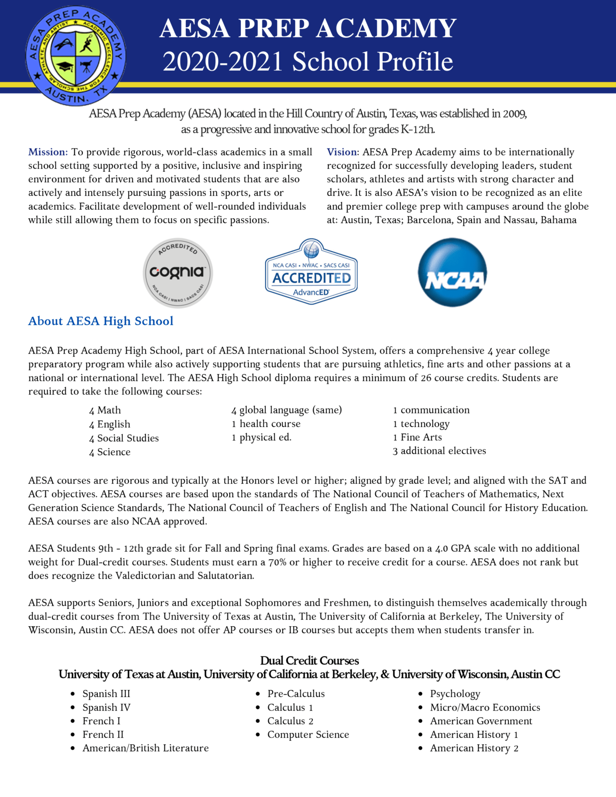 AESA School Profile